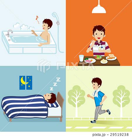 健康的な生活習慣 若い男性のイラスト素材 [29519238] - PIXTA