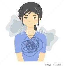 無表情の女性(うつ状態・放心状態・洗脳)のイラスト素材 [61558611 ...