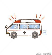 救急車 イラスト 手描きのイラスト素材 [59045728] - PIXTAの画像