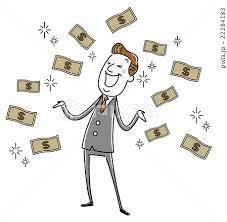 イラスト素材:ビジネスマン 中年 お金持ち 大金 儲けるのイラスト素材 ...