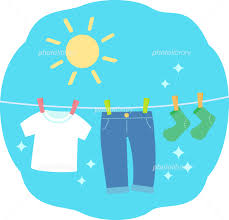 晴れた空と清潔な洗濯物 イラスト素材 [ 5290661 ] - フォトライブ ...