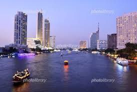 バンコクのチャオプラヤ川 写真素材 [ 6223877 ] - フォトライブラリー ...
