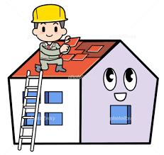 家・屋根修理 イラスト素材 [ 2173289 ] - フォトライブラリー ...