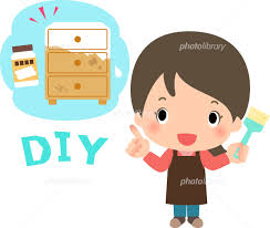 DIYで家具の塗料を塗りなおす女性 イラスト素材 [ 4671470 ] - フォト ...