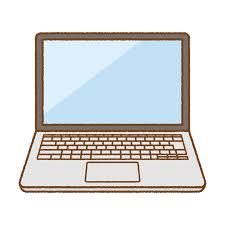 ノートパソコンのイラスト   商用OKの無料イラスト素材サイト ツカッテの画像