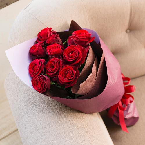 赤バラのシックな花束」 | フラワーギフトはプロのお花屋さんに ...