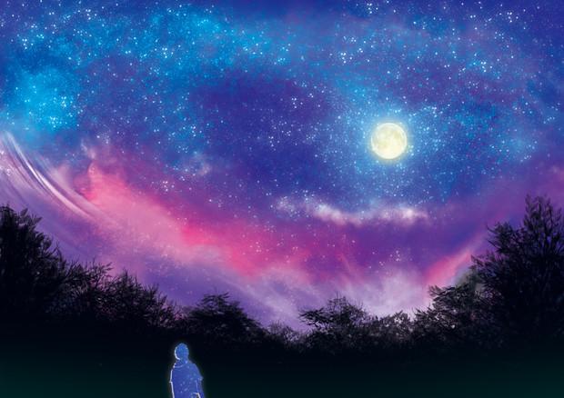 夕焼けが落ちる夜空 / ウラメッタ さんのイラスト - ニコニコ静画 ...
