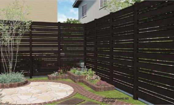 Bパーティションフェンス2型 - B-Lifes - エクステリア建材・ガーデン ...