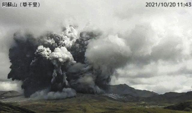 阿蘇山で噴火発生 火砕流が火口から1.3キロに 警戒レベルを入山規制「3 ...