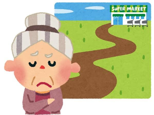 高齢の買い物弱者が全国に380万人!?高齢化が進む団地やニュータウンで ...