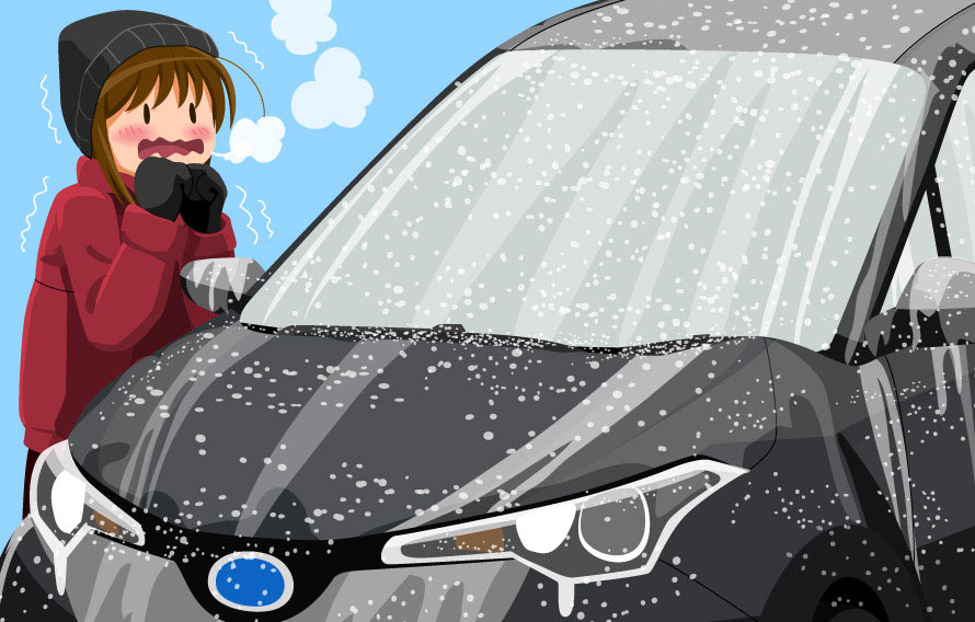 寒い日の朝、凍ったフロントガラスどうしてる?(クルマの運転操作 ...