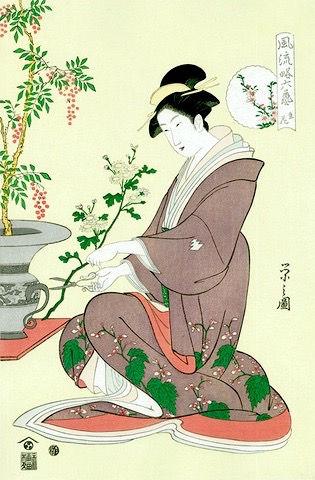 生花の浮世絵 UKIYOE IKE-BANA
