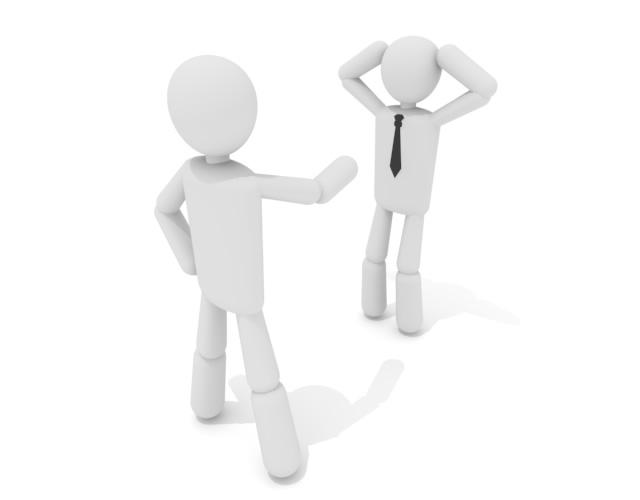 クビ宣告 - 働く人 - 無料イラスト素材