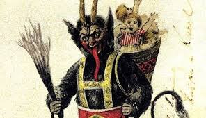 クリスマスに現る怪物クランプスの挿絵11点。悪い子は叩いて地獄へ ...