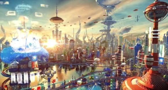 2次元で表現されたSFワールドを3次元に置き換えた近未来ワールド ...
