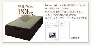 お客様組立 美草・日本製 大容量畳跳ね上げベッド【Komero】コメロ ...
