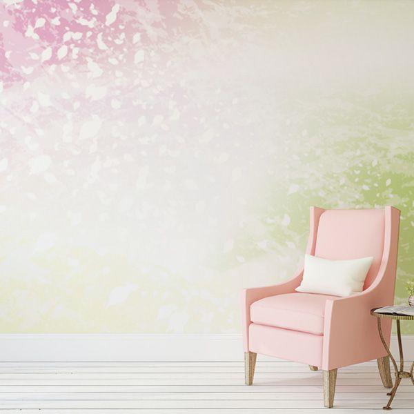 舞い散る桜吹雪をイメージした壁紙。 やわらかなグラデーションが ...
