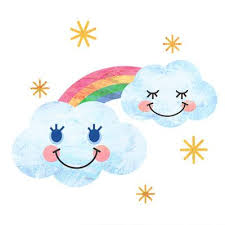 雲と虹   雲 イラスト, 幼稚園 イラスト, 幼稚園のアクティビティ