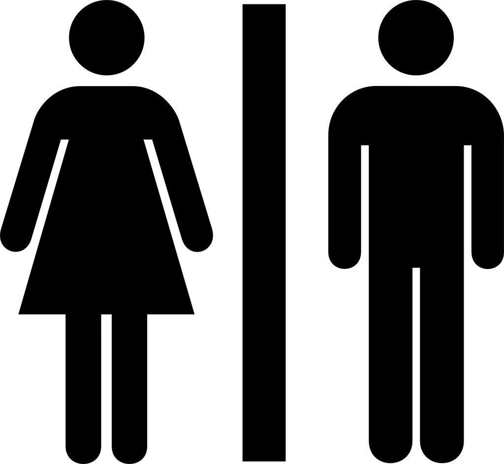 無料イラスト/春夏秋冬: 【ロイヤリティフリー】 トイレ 表示 イラスト ...