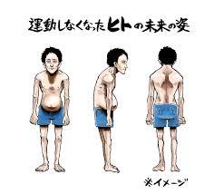 動かない、歩かない、運動不足の生活を続けると未来の人類の姿は醜く ...