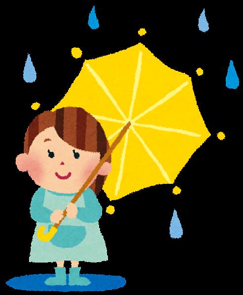 梅雨のイラスト「傘と女の子」 | かわいいフリー素材集 いらすとや