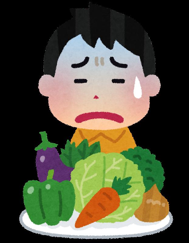 野菜が嫌いな子供のイラスト | かわいいフリー素材集 いらすとや