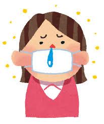 花粉症のイラスト「マスクと鼻水の女性」 | かわいいフリー素材集 ...