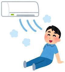 冷房で涼む人のイラスト | かわいいフリー素材集 いらすとや