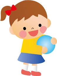 フリーイラスト] ボール遊びする女の子 - パブリックドメインQ:著作権 ...