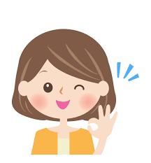 OKサインをする女性の顔イラスト   フリー素材 イラストミント