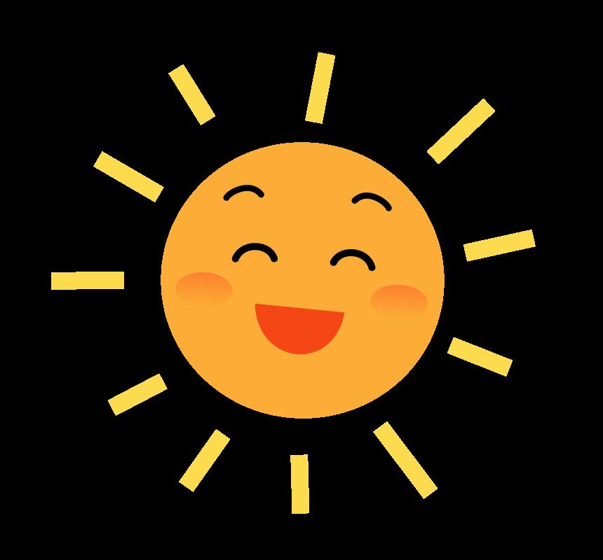 笑顔の太陽のイラスト | フリー素材 イラストミント