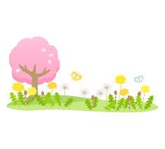 桜やたんぽぽやつくしと蝶々の春イラスト | フリー素材 イラストミント