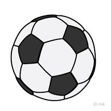 シンプルなサッカーボールイラストのフリー素材|イラストイメージの画像