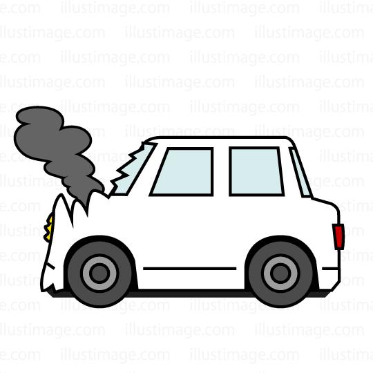 事故車の無料イラスト素材|イラストイメージ