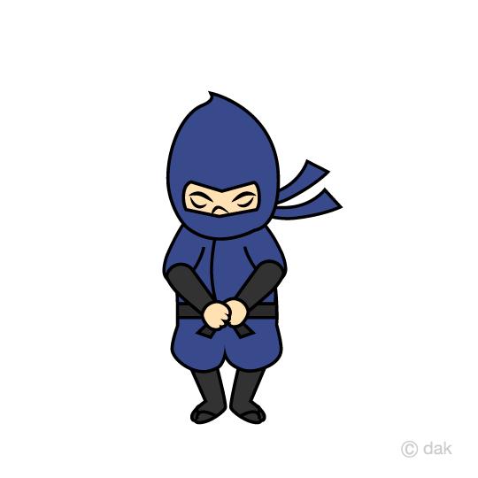 お辞儀する忍者の無料イラスト素材 イラストイメージ