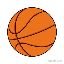 オレンジ色のバスケットボールイラストのフリー素材 イラストイメージの画像