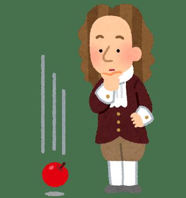 ニュートンと万有引力の法則とりんご | 歴史上の人物.com