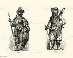 巨人ゴグとマゴグギルドホールロンドン - 1880~1889年のベクター ...