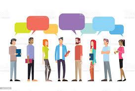 カジュアルな人々のグループのチャットコミュニケーションソーシャル ...