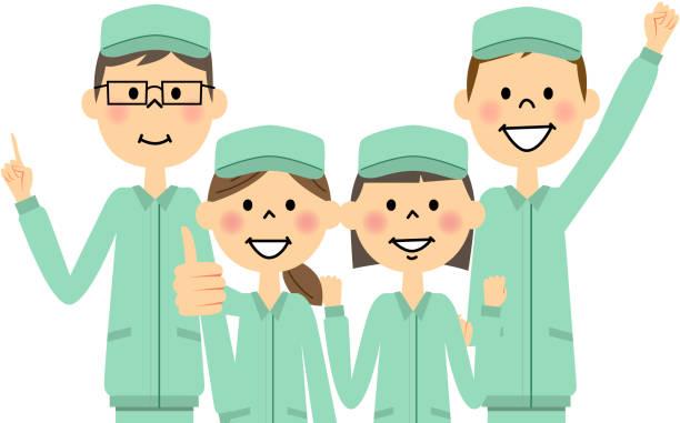 働く人 日本人 工場 イラスト素材 - iStock