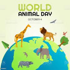 世界動物の日ベクトルイラスト - お祝いのベクターアート素材や画像を ...