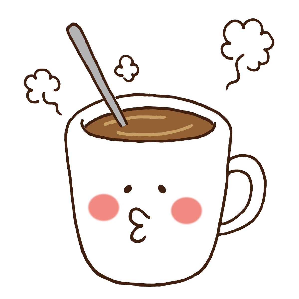 ゆるいマグカップのキャラクター」 - 無料イラスト[イラストareira]