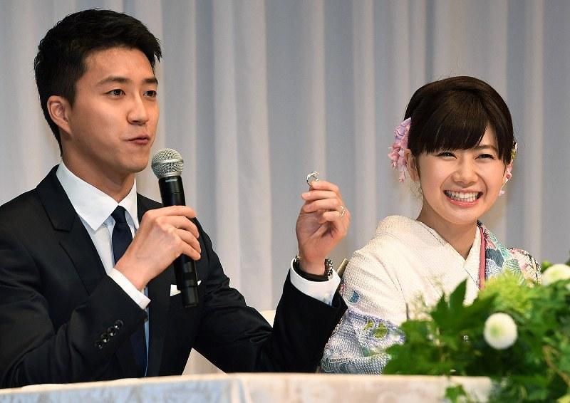 結婚:卓球リオ銅・福原愛さん 台湾代表の夫と報告会見[写真特集5/11 ...