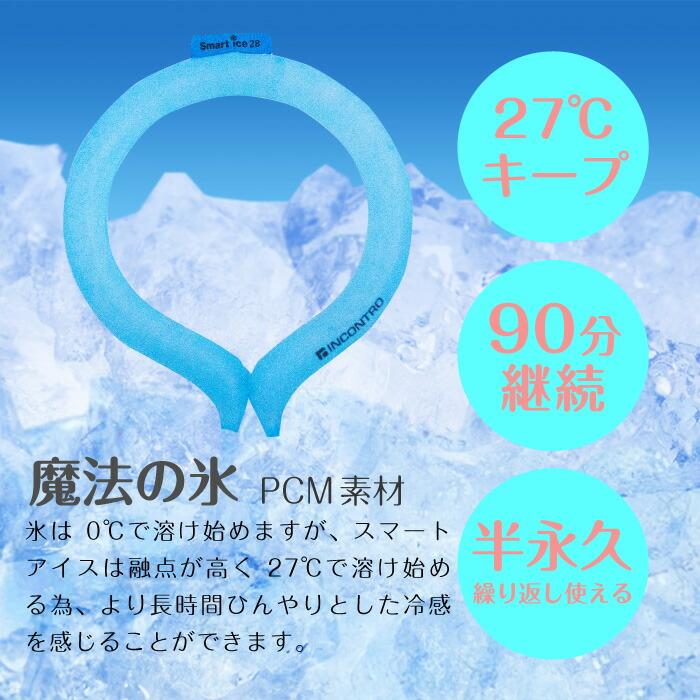 楽天市場】スマートアイスネックバンド 28°ICE ネッククーラー ...