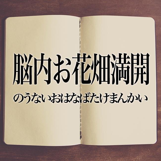 脳内お花畑満開」とは?意味!解説 | Meaning-Book