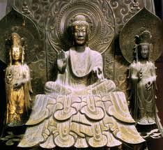法隆寺・(金堂)釈迦三尊像「釈迦如来と文殊菩薩?普賢菩薩 ...