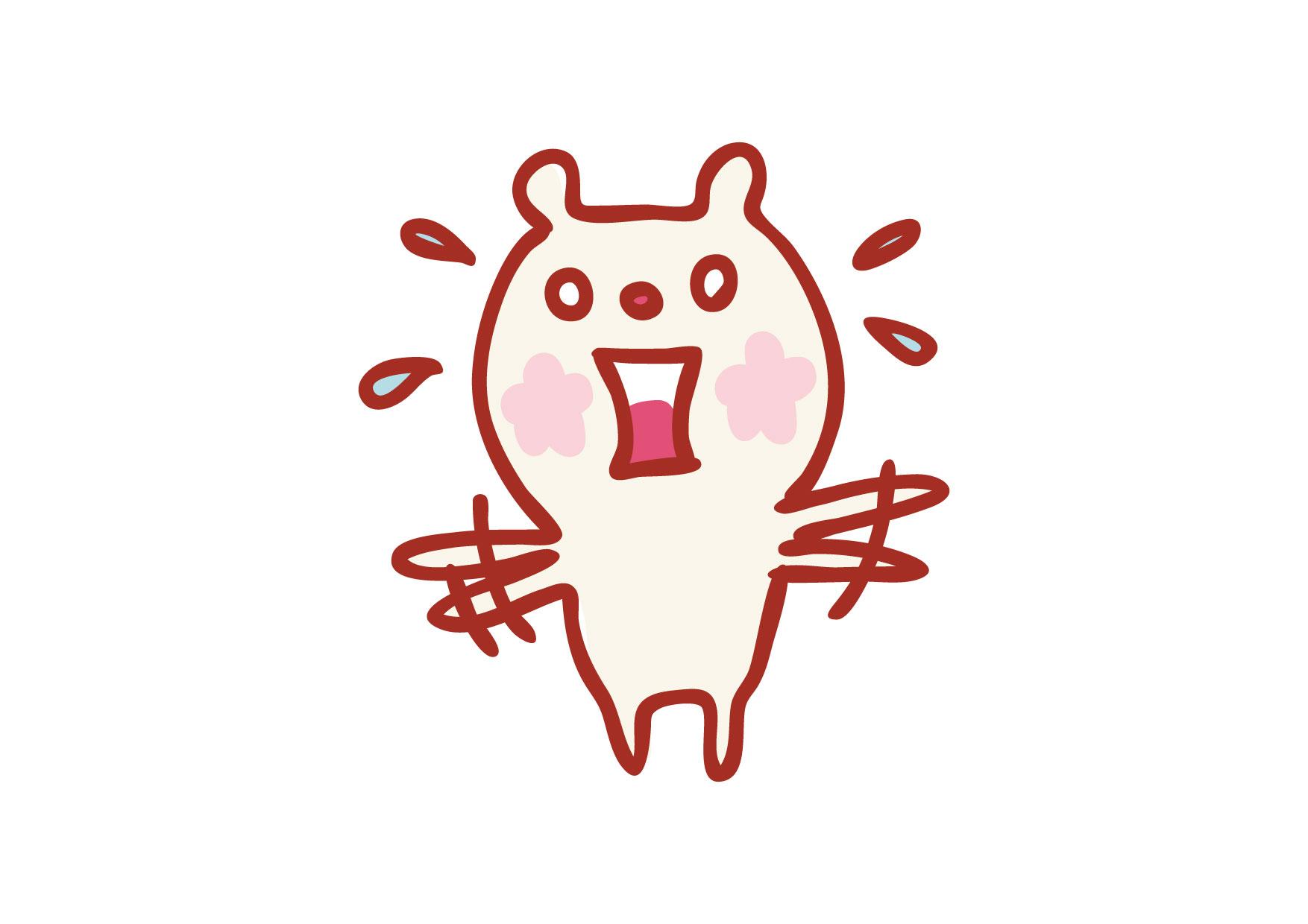 可愛いイラスト無料|クマ 慌てる − free illustration Bear panic ...