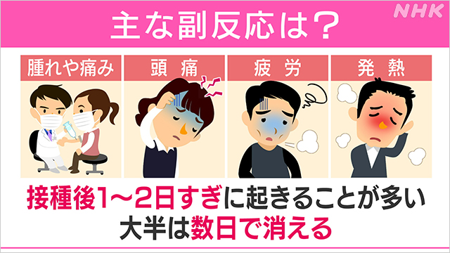 コロナワクチンは危険?安全性は?副反応やアレルギーについて|NHK