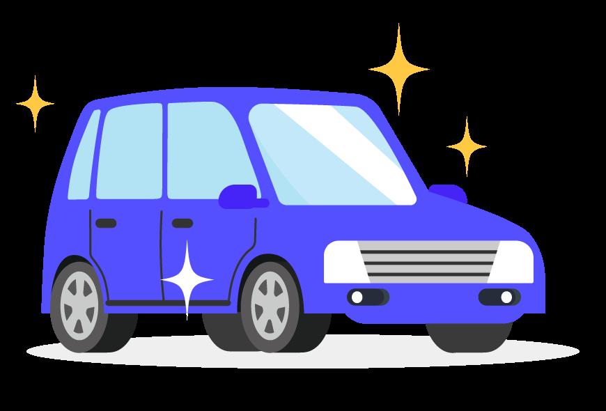ピカピカの車のイラスト | 無料のフリー素材 イラストエイト