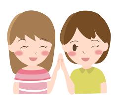 笑顔の女性2人のイラスト | 無料のフリー素材 イラストエイト